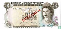 Bermuda 50 dollar (specimen)