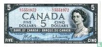Canada  5 Dollars 1954