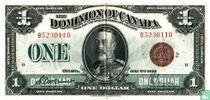 Canada 1 dollar 1923 (red seal)