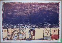 Alechinsky - litho- compositie , 1981