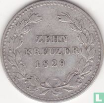 Baden 10 kreuzer 1829