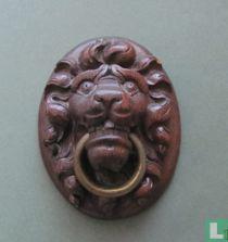 Eiken gesneden leeuwenkop - laat 18e eeuw