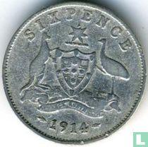 Australien 6 Pence 1914