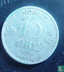 Norwegen 10 Øre 1911