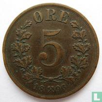 Norwegen 5 Øre 1896