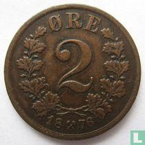 Norwegen 2 Øre 1876