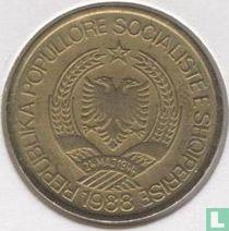 Albanië 1 lek 1988 (aluminium-brons)