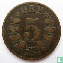 Norwegen 5 Øre 1875