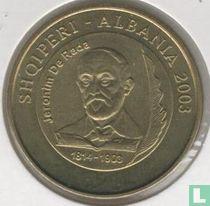 "Albania 50 leke 2003 ""100th Anniversary of the Death of Jeronim de Rada"""