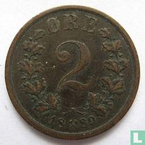 Norwegen 2 Øre 1889