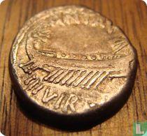 Romeinse Republiek, AR Denarius, 32-31 BC, Marcus Antonius, Nicopolis - Alexandria et Aegyptus