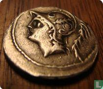 Romeinse Republiek, AR Denarius, 103 BC, Minucius Thermus, Rome