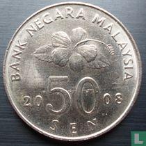 Maleisië 50 sen 2008