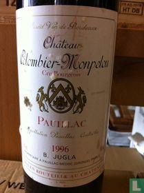 Chateau Colombier Monpelou - Pauillac AOC Cru Bourgeois 1996