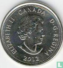 "Canada 25 cents 2012 (colourless) ""Bicentenary War of 1812 - Tecumseh"""