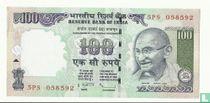 India 100 Rupees 2011