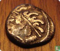 Romeinse Republiek, AR Denier, 45 BC, Gallia Transalpina, Carnutes Beauce Andecomb/Andecombos
