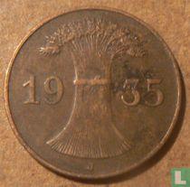 Duitse Rijk 1 reichspfennig 1935 (J)