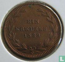 Baden 1 kreuzer 1829