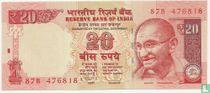 India 20 Rupees 2012