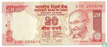 India 20 Rupees 2011