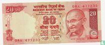India 20 Rupees 2006