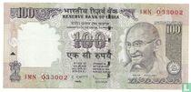 India 100 Rupees 2010 (F)