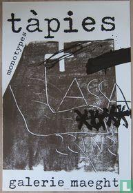 Antoni Tapies - Monotypes affiche