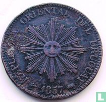 Uruguay 20 centesimos 1857