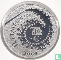 """Frankrijk 1½ euro 2003 (PROOF) """"Alice in Wonderland"""""""