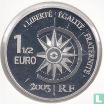 """Frankrijk 1½ euro 2003 (PROOF) """"The Normandie"""""""