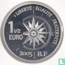 "Frankrijk 1½ euro 2003 (PROOF) ""Paris - Tokyo flight"""