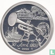 "Frankrijk 1½ euro 2003 (PROOF) ""Bicentenary of the sale of Louisiana to the United States"""