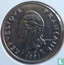 Frans-Polynesië 50 francs 1991