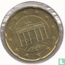 Duitsland 20 cent 2003 (G)