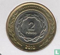 "Argentina 2 pesos 2010 ""Bicentenary of Revolution of May 1810"""