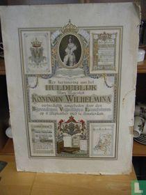 ter herinnering aan het huldeblijk Hare Majesteit Koningin Wilhelmina eerbiediglijk aangeboden door den Bijzonderen Vrijwilligen Landstorm