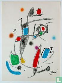 Originele litho van Joan Miro, Maravillas 10, 1975