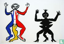 Litho 'Two figures (male and female)'