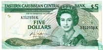 Oost. Caraïben 5 Dollars St. Kitts