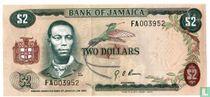Jamaica 2 Dollars 1973 (L1960)