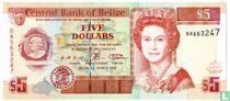 Belize 5 dollar 1996
