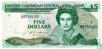 Oost. Caraïben 5 Dollars Grenada