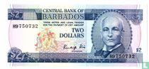 Barbados 2 Dollars 1986