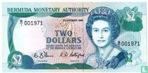 Bermuda 2 Dollar 1988