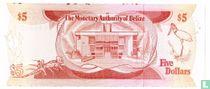 Belize 5 dollar 1980