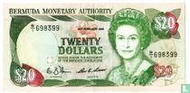 Bermuda 20 dollar 1989