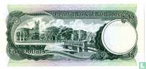 Barbados 5 Dollars 1975