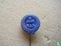 10 jaar M.G.S. (laurel wreath) [blue]