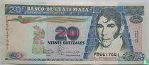 Guatemala 20 quetzales 1990